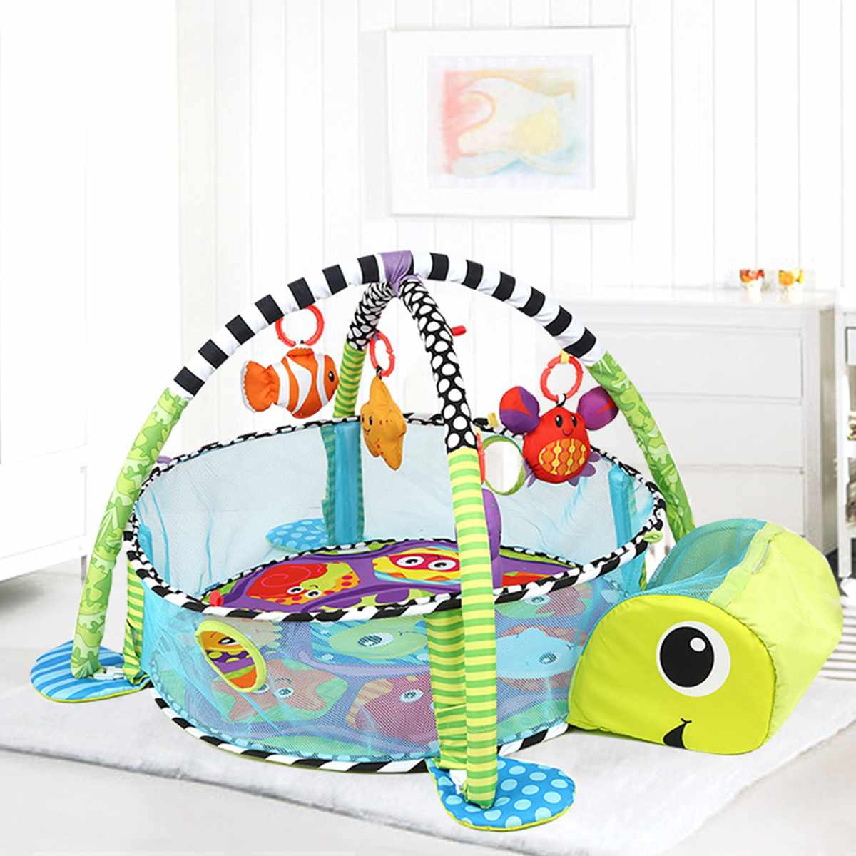 Turtle Baby Infant Play Mat Toddler Game Blanket Crawl Pad Game Mat Best Children's Lighting & Home Decor Online Store