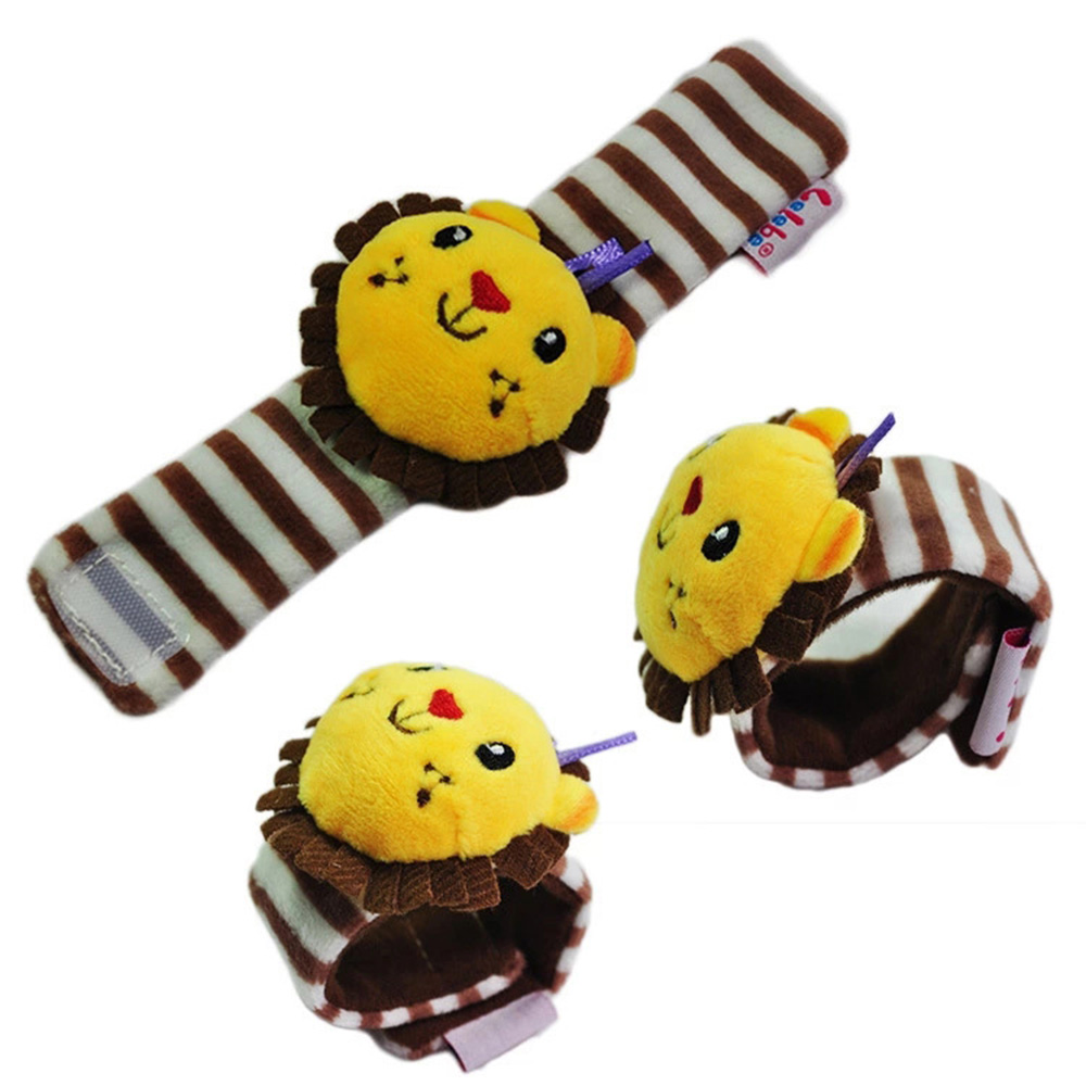 Soft Animal Rattles - Infant Plush Wrist Rattles