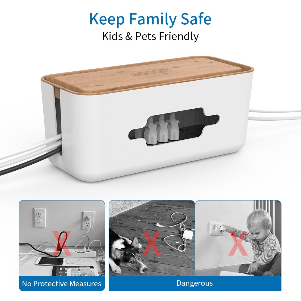 Cable Management Box with Holder Best Children's Lighting & Home Decor Online Store