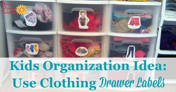 Kids Bedroom & Closet Organization Idea: Use Clothing Drawer Labels Best Children's Lighting & Home Decor Online Store