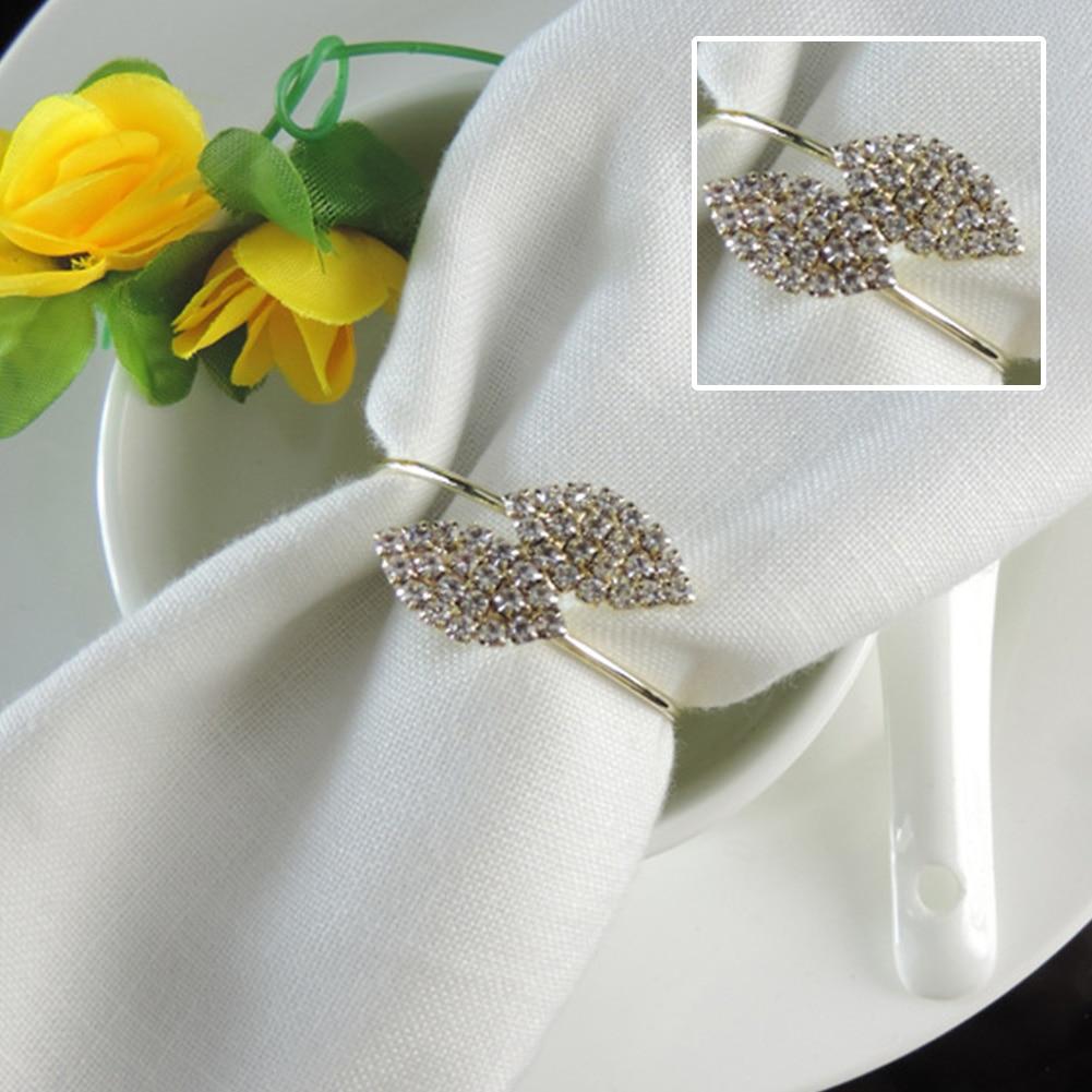 Silver Leaf Napkin Rings