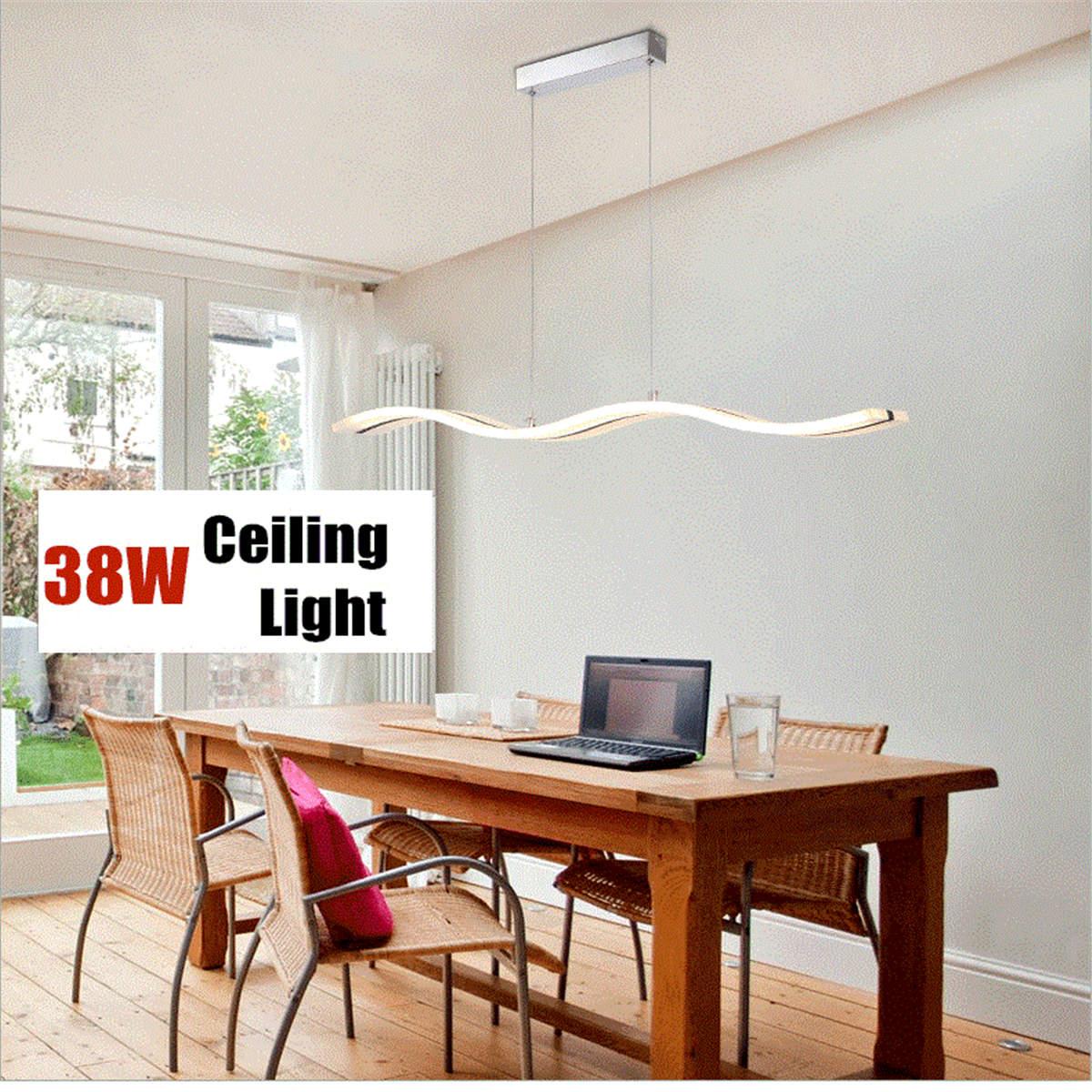 Modern Chandelier Wave LED Chandelier Light - Stylish Decorative Ceiling Light For Living Dining And Bedrooms Best Children's Lighting & Home Decor Online Store