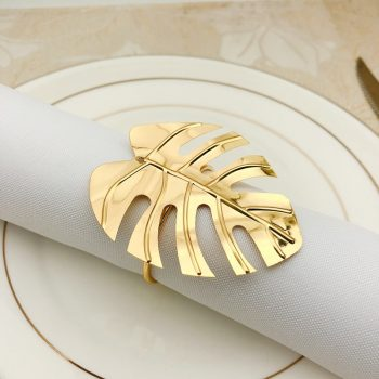 Turtle Leaf Napkin Rings