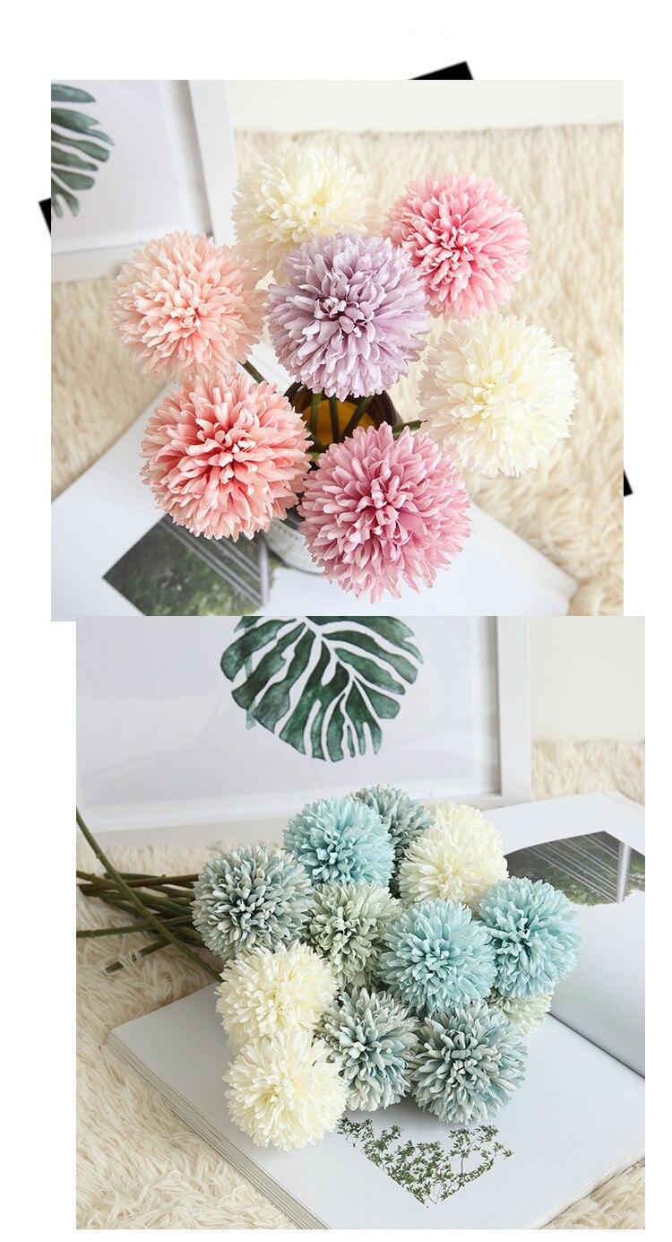 New style single head stabbing ball Dandelion Wedding bridal bouquet Office living room home decorating flower arrangement Best Children's Lighting & Home Decor Online Store