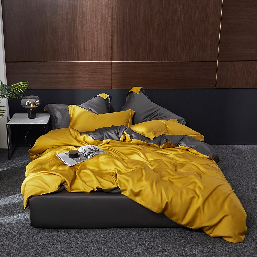 100% Silk Bedding Set Queen King Duvet Cover Fitted Sheet Pillowcase For Great Sleep Best Children's Lighting & Home Decor Online Store