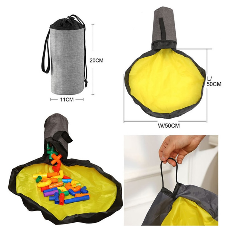 small 2 in 1 Slide away basket yellow 11 cm