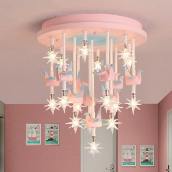 Merry Go round star Ceiling Lights For Children's Room