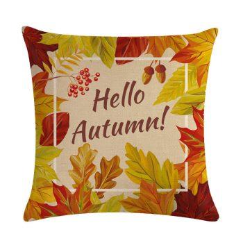 45Cmx45Cm Golden Maple Leaves Cushion Covers - Fall Home Decor 2020