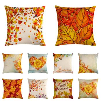 Fall Decor maple leaves cushion covers