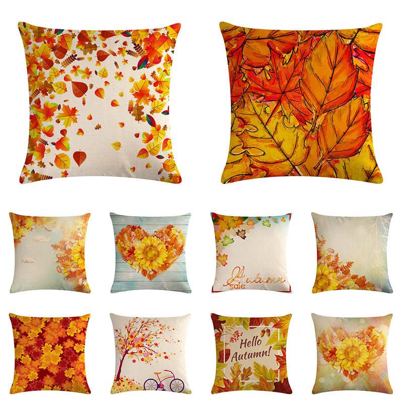 Fall Decor Maple Leaves Cushion Covers