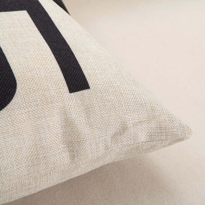 Yellow Black Cotton Linen Cushion Cover - Home Decor Best Children's Lighting & Home Decor Online Store