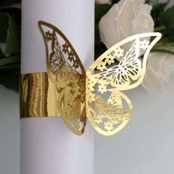 50pcs 10 colors Butterfly Style Laser Cut Paper Napkin Rings - Birthday/Wedding Table Decor Best Children's Lighting & Home Decor Online Store