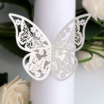 Butterfly Style Laser Cut Paper Napkin Rings