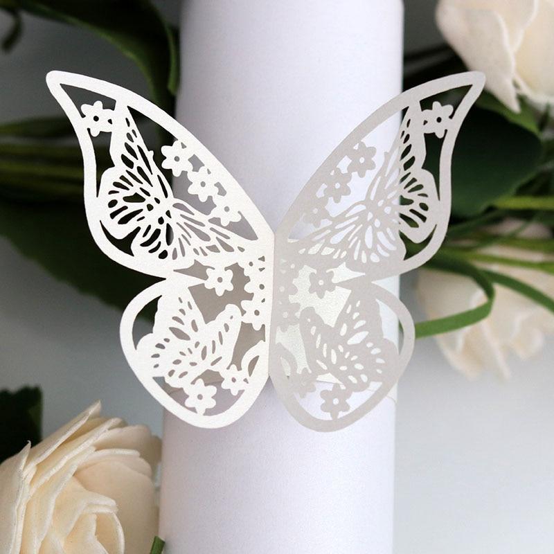 Butterfly Style Laser Cut Paper Napkin Rings