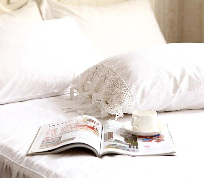 2Pcs European Style Elegant Embroidered Pillowcase - Crochet Lace Cotton Princess Pillow Cover No Filler