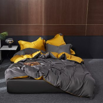 Yellow & gray bedding Set