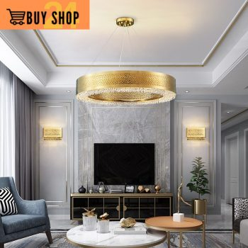 Modern Gold Round Led Luxury Chandeliers -Ultra-modern Chandelier Crystal Hanging Ceiling Lamp Best Children's Lighting & Home Decor Online Store