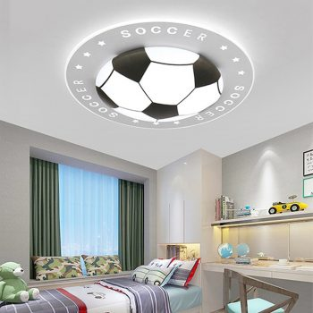 Dimmable Football Ceiling Light For Children's Room