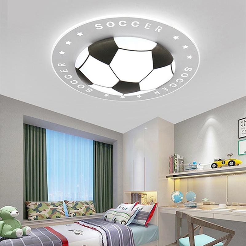 Dimmable Football Ceiling Light For Children's Room