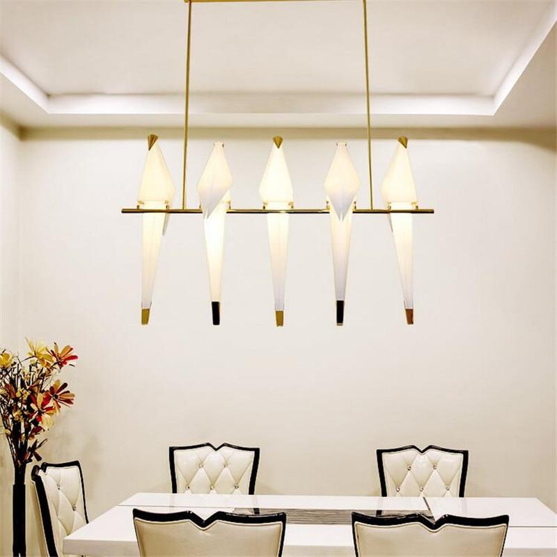 5 heads Modern Chandelier Bird Light unique gold chandelier