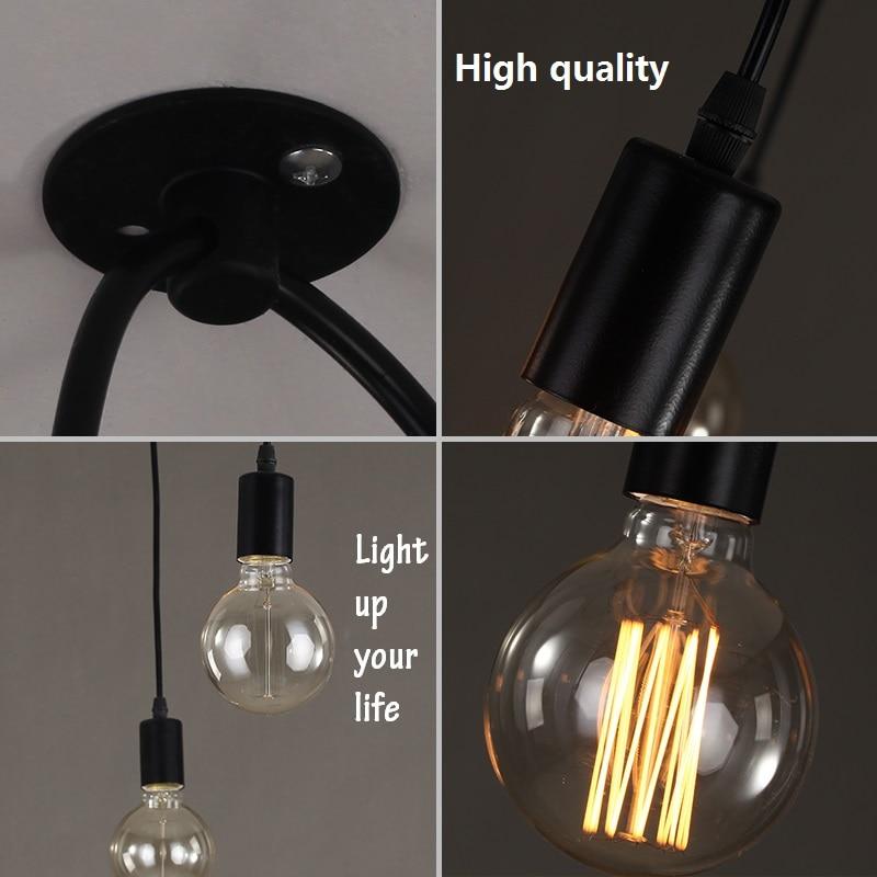 Modern Chandeliers - Spider Chandelier Ceiling Lamp Light Fixture Retro Edison Bulb Light Vintage Loft Antique Hanging