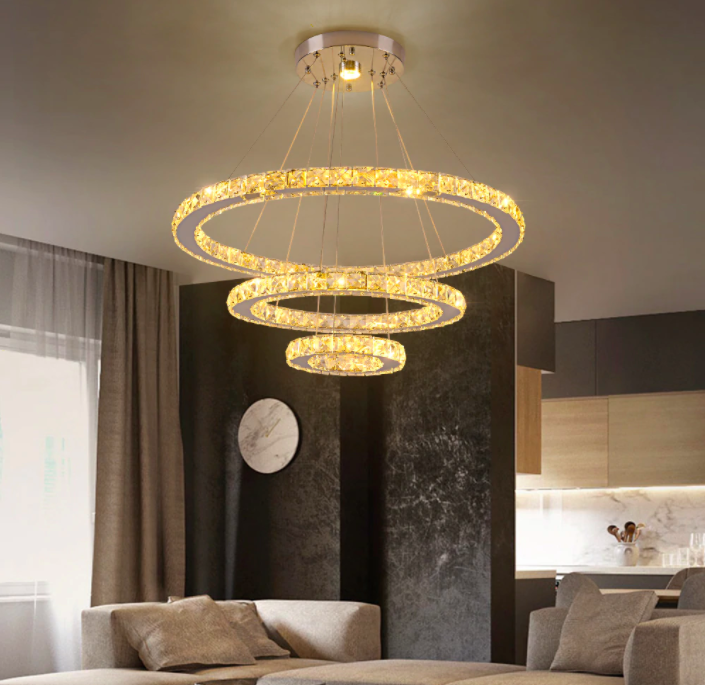 Ultra-modern Chandeliers - Modern Crystal 3 Rings Chandeliers.png