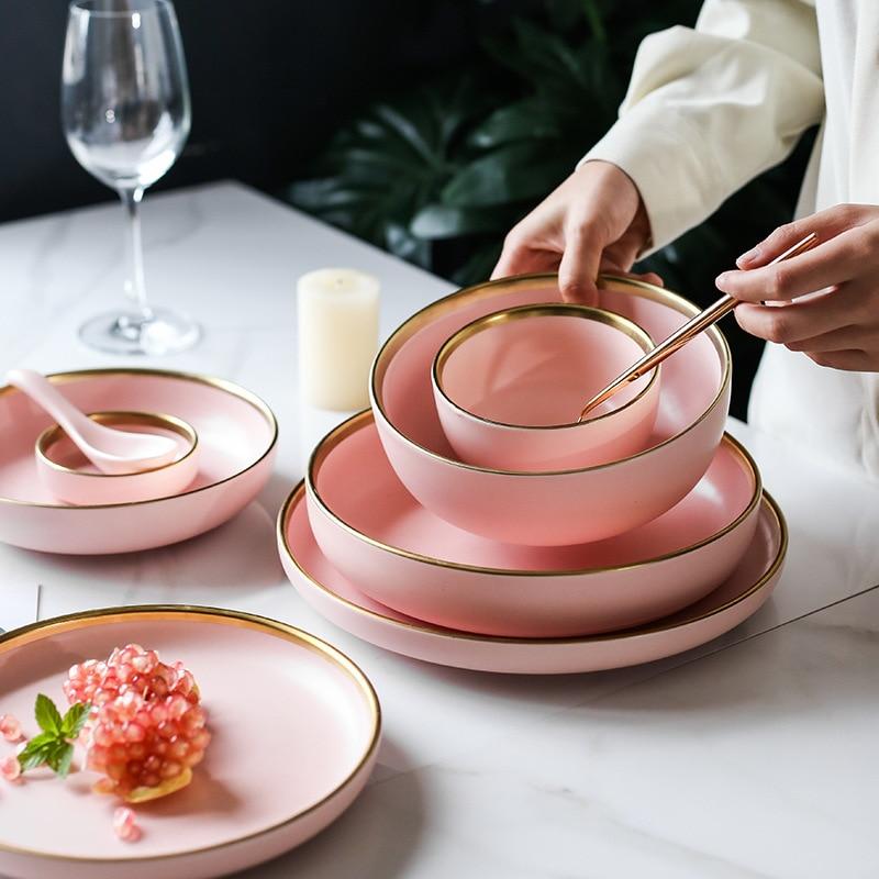 Pink Ceramic Plates