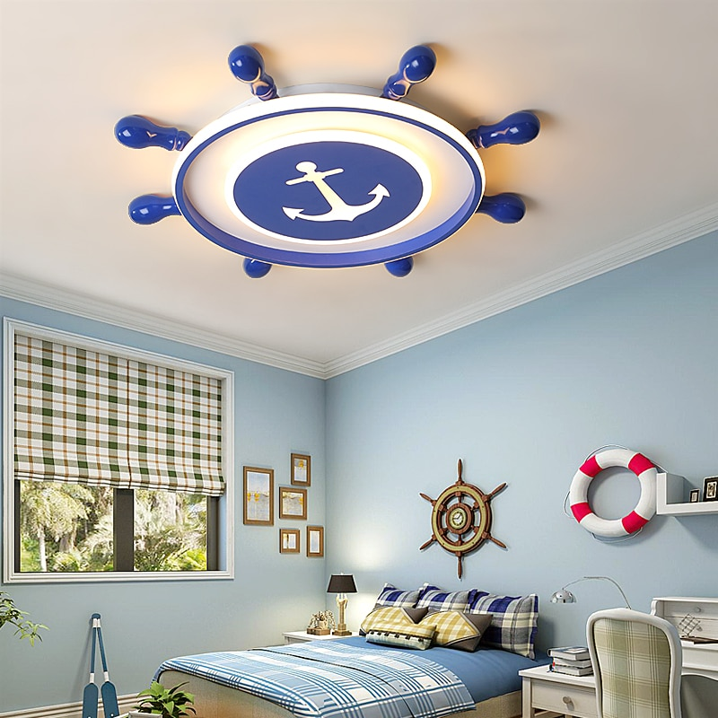 Pirate LED Ceiling Lights For Children's Room | Blue Ceiling Lights For Boys Room Best Children's Lighting & Home Decor Online Store