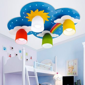 Rainbow and Clouds Ceiling lamps For Kids Bedroom