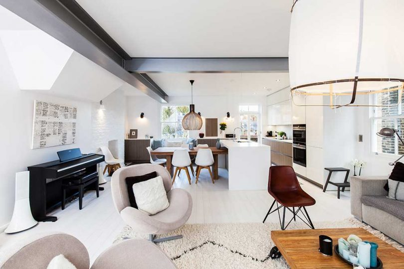 Two Adjacent Flats Merge into Modern Apartment in Hampstead Best Children's Lighting & Home Decor Online Store