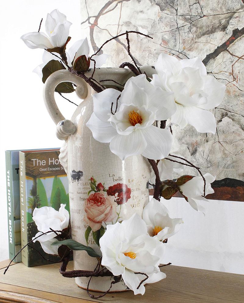 185Cm Artificial Magnolia Fake Silk Flower