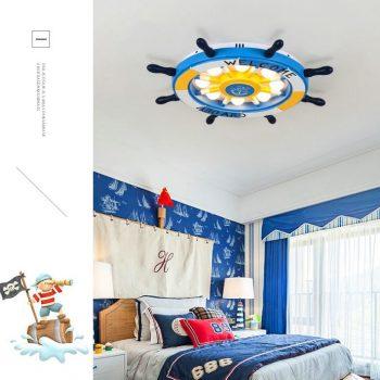 Ship's Steering Wheel (Helm) Ceiling Light - Children's Room Ceiling Lights Best Children's Lighting & Home Decor Online Store