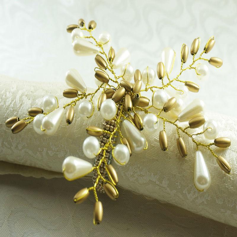 Pearl Flower Napkin Rings