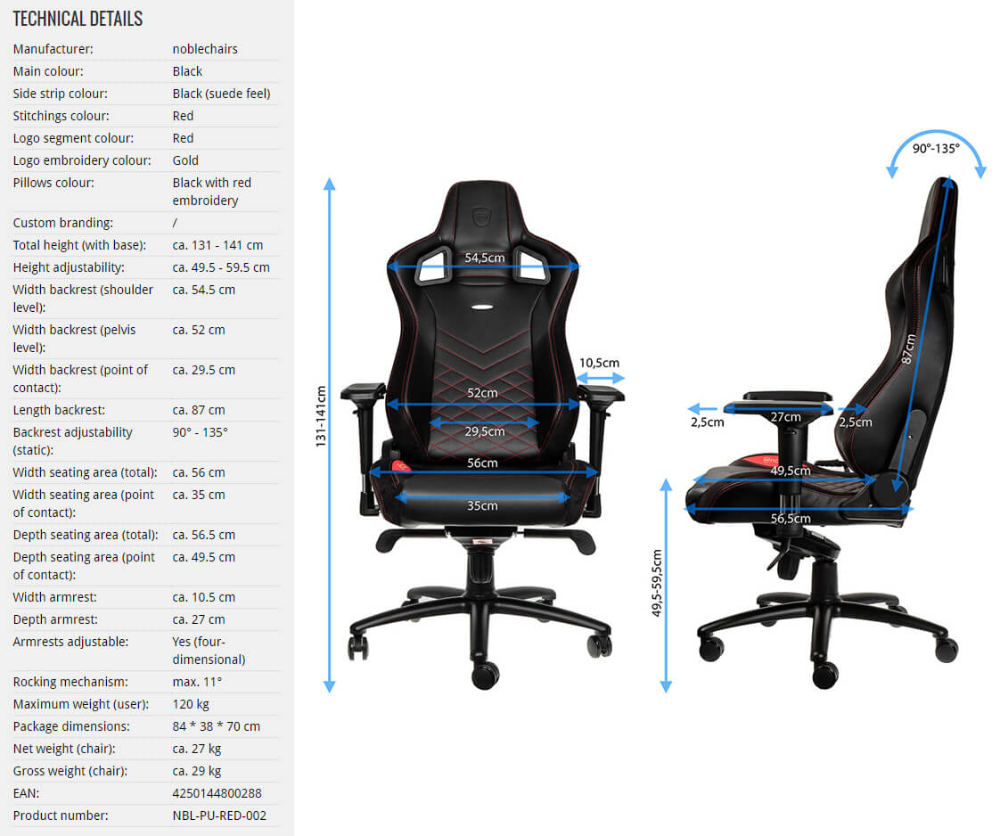 noblechair epic black edition best gaming chairs