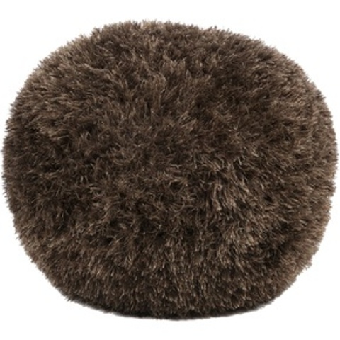 a fluffy brown faux fur ottoman or pouf like this one will be a nice addition to make interiors to cozy them up