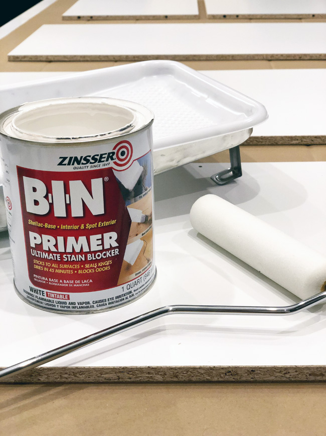 Zinsser Bin Primer for painting Ikea laminate furniture