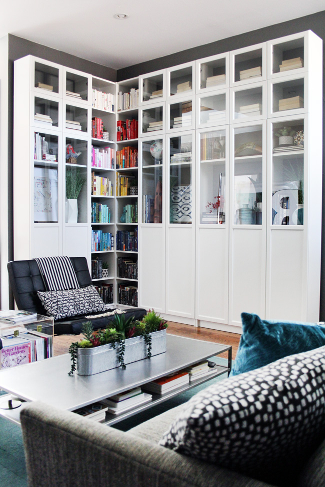 Make Ikea Billy Bookcases look built-in