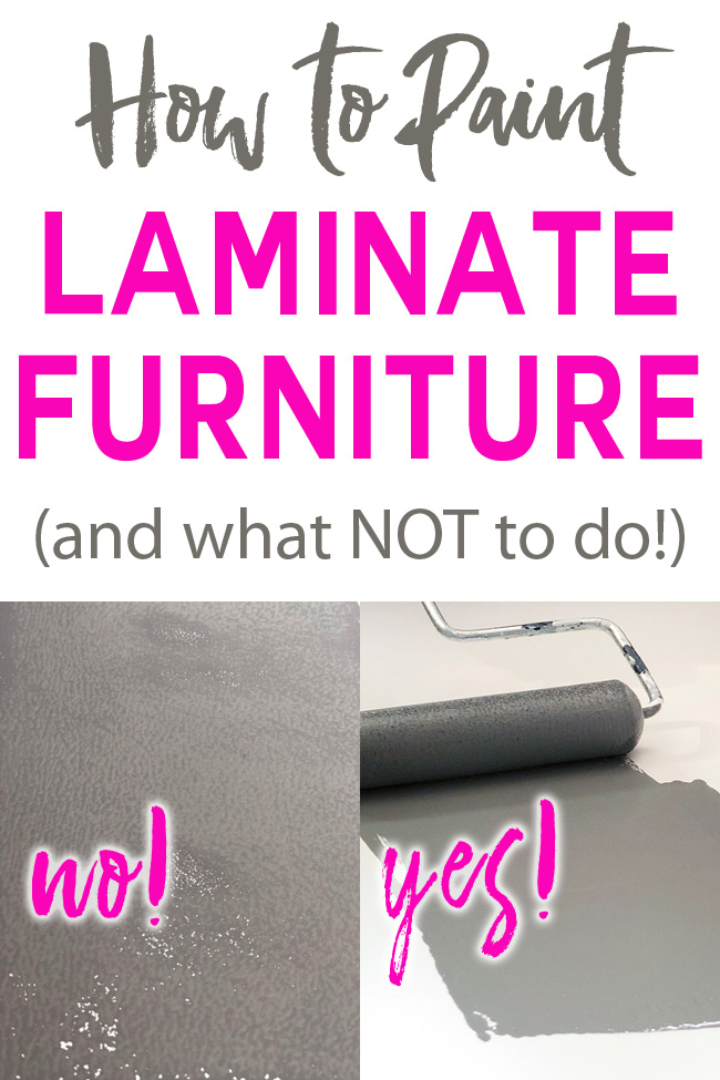 How to paint laminate furniture and what not to do