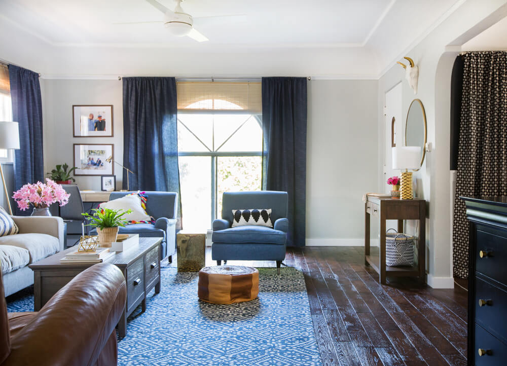 Emily Henderson_Target_Makeover_Nanny Suprise_Happy_Modern_Traditional_Eclectic_Makeover_Blue_Pink_Living Room_18