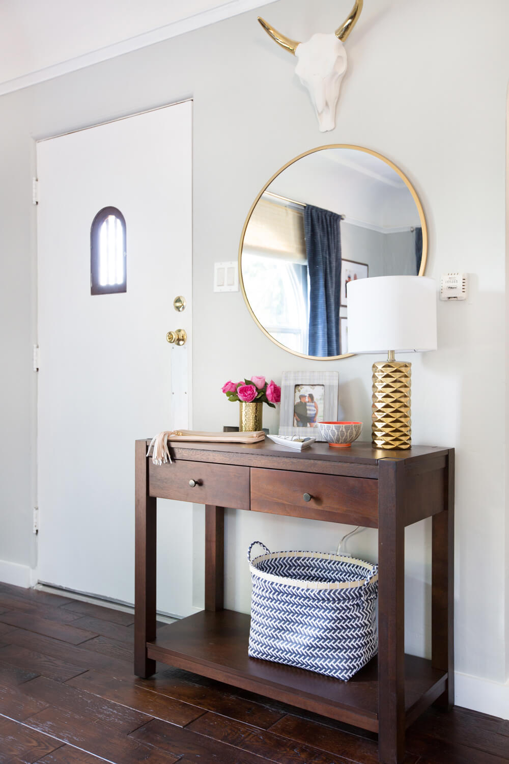 Emily Henderson_Target_Makeover_Nanny Suprise_Happy_Modern_Traditional_Eclectic_Makeover_Blue_Pink_Living Room_13