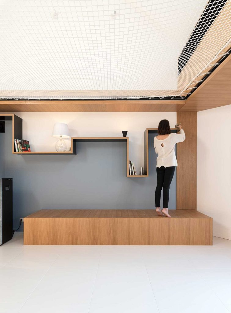 The furniture is simple, yet catchy and functional - every piece here has its own meaning and aim