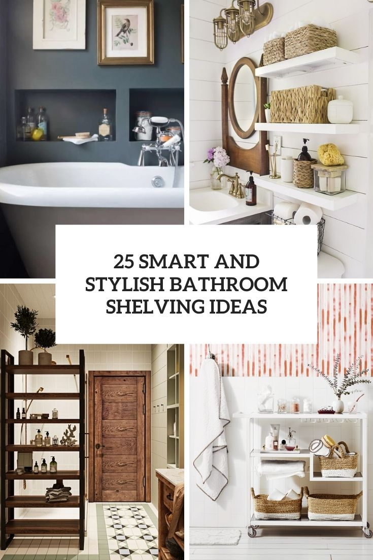 smart and stylish bathroom shelving ideas cover