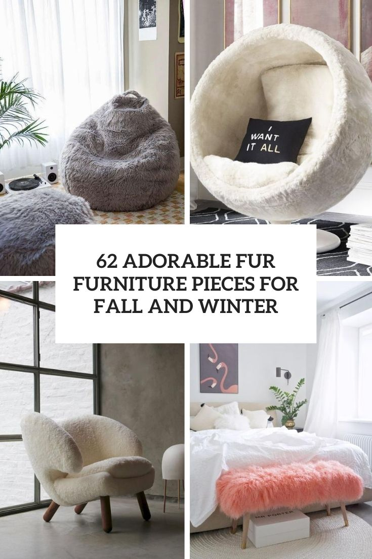 adorable fur furniture pieces for fall and winter cover