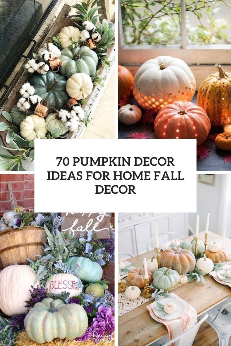 pumpkin decor ideas for home fall decor cover