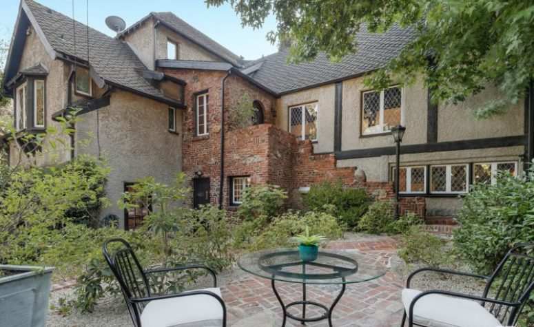 This English Tudor like home is located in Los Angeles and is a very lovely space