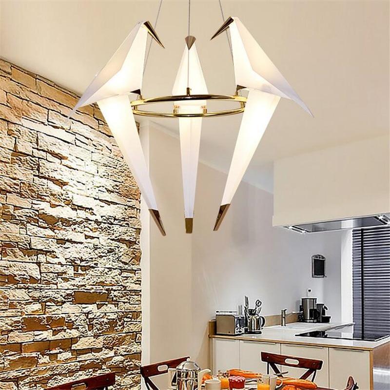 3 heads Bird ceiling light Modern Chandelier Bird Light statement lighting
