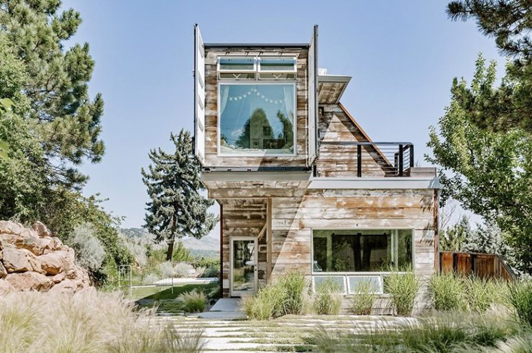 This stylish shipping container home is done in rustic and industrial style by its owners and features cool views