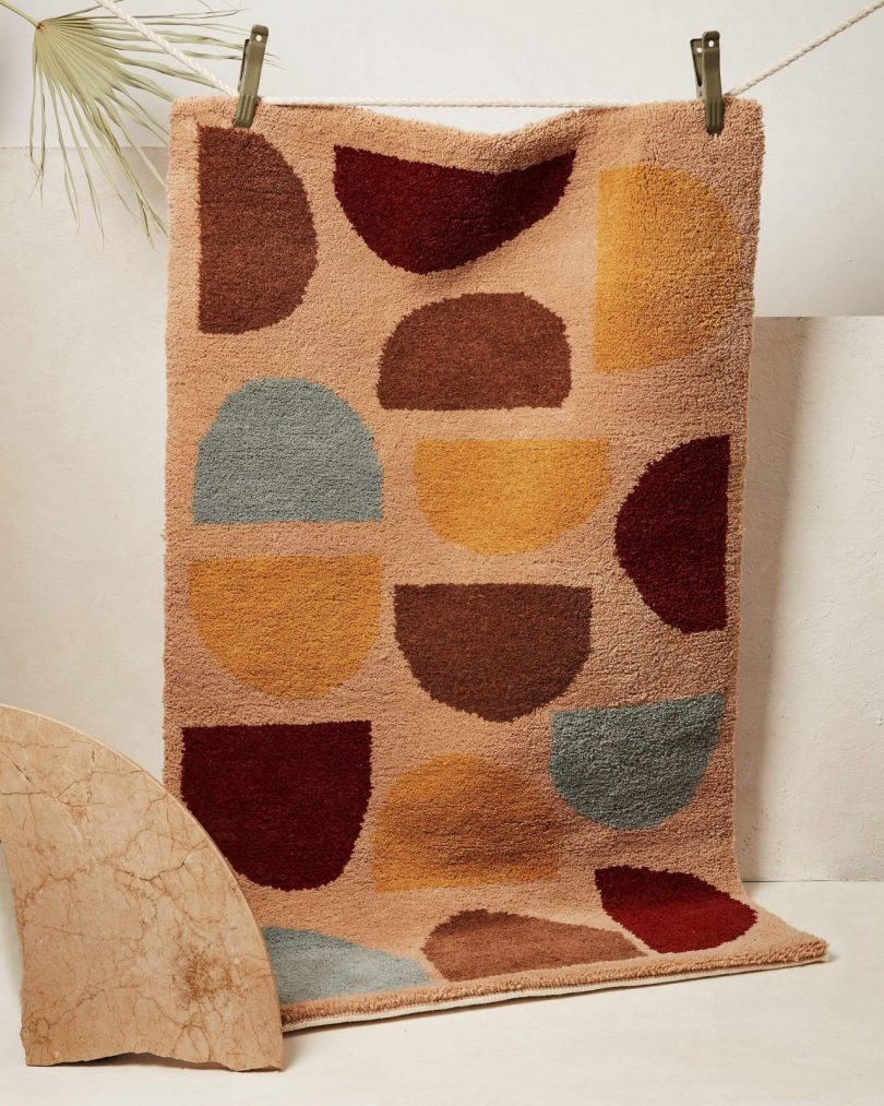 an example of MINNA Goods' Ethical Wool Rugs