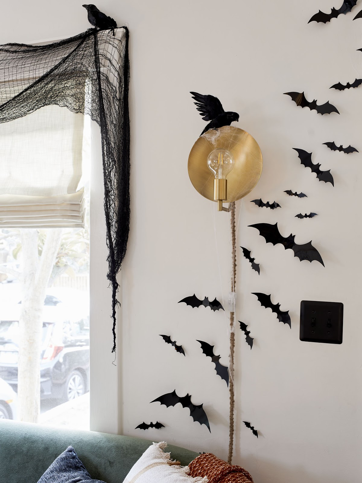 Sara's Haunted (But Happy) Halloween House with Affordable New and Vintage Finds Best Children's Lighting & Home Decor Online Store