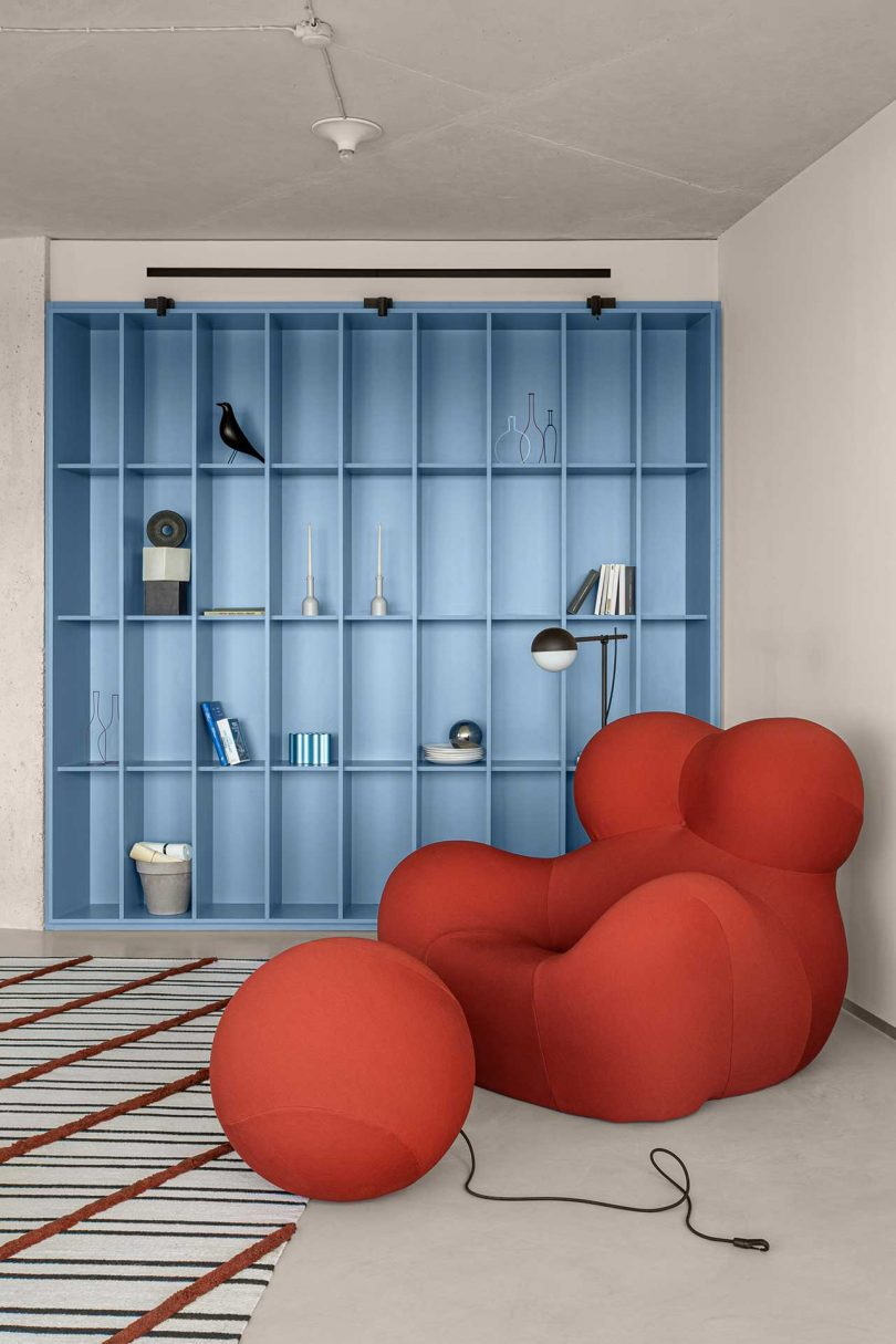 A Curved, Kiev Apartment That Radiates With Terracotta and Sky Blue Accents Best Children's Lighting & Home Decor Online Store